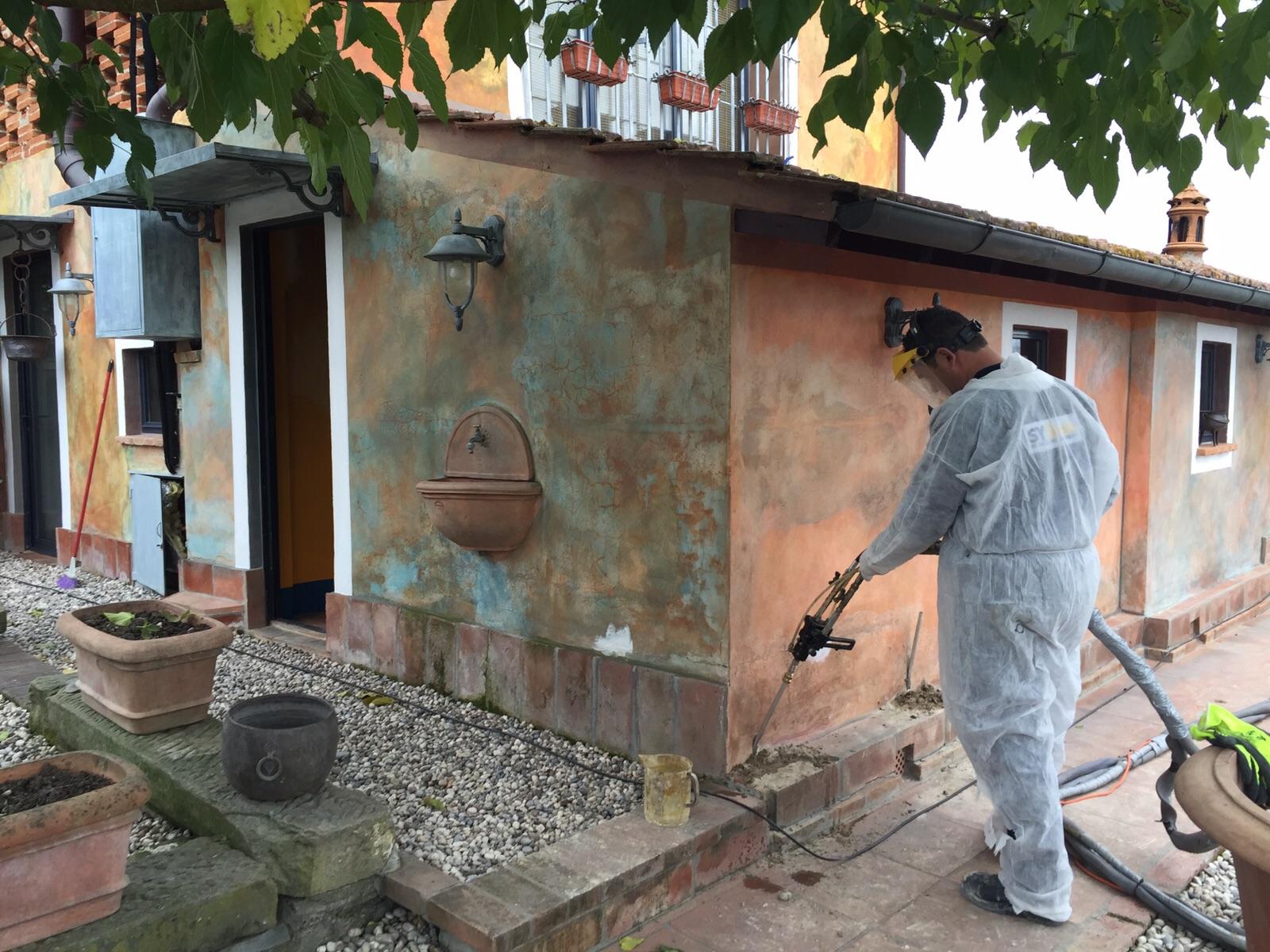 Consolidamento delle fondazioni con resine systab for Piccola casa costruita su fondamenta