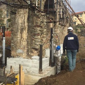 Micropali idraulici per consolidare fondamenta acquedotto