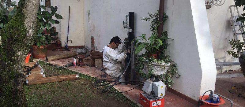 Micropali per fondazione edificio civile