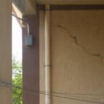 Crepa di un pilastro su un plinto isolato