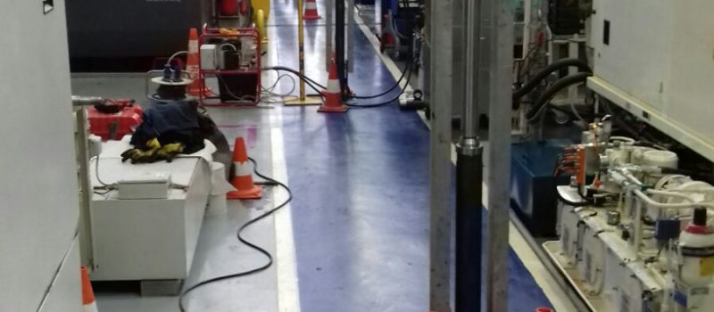 infissione simultanea di pali precaricati