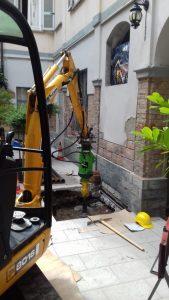Consolidamento delle fondazioni con micropali in acciaio