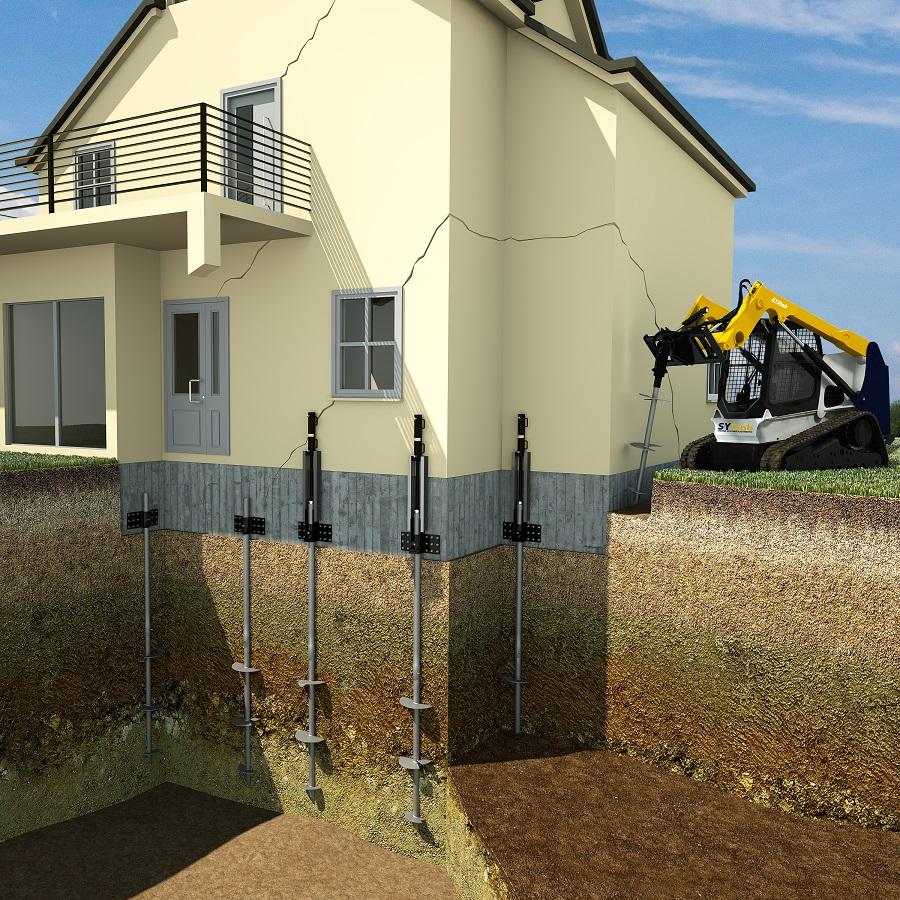 Elika - Pali elica per consolidamento edifici