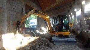 Pali Elika per consolidare le fondamenta degli edifici