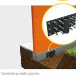 Piastra fissaggio pali precaricati per consolidamento fondamenta