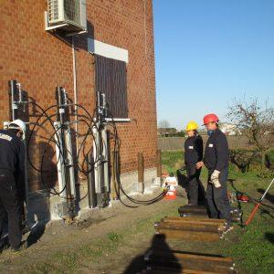 Pali precaricati per consolidare fondamenta edifici